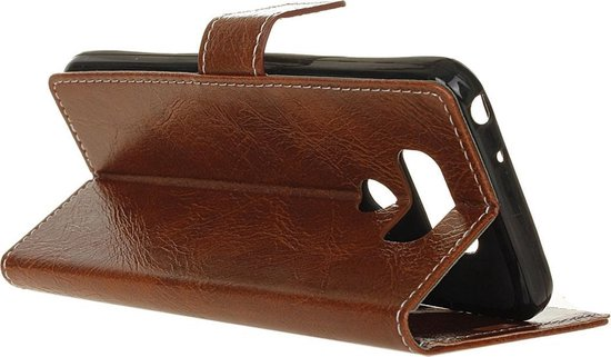 Mobigear Retro Luxe Wallet Hoesje Bruin LG V40 ThinQ