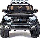 Elektrische Kinderauto Ford Ranger F650 Zwart 2 persoons MP4 Scherm 12V Met Afstandsbediening FULL OPTION
