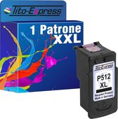 Tito-Express PlatinumSerie Cartridge 1x Canon PG-512XL Cartridge alternatief voor Canon PG-512XL Zwart