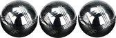 Get & Go Jeu de Boules Set III - 3 Ballen - Chroom/Zwart
