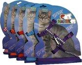 Katten tuigje in verschillende kleuren