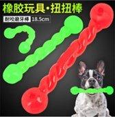 Rubber staafje 18,5 cm voor de hond en puppy