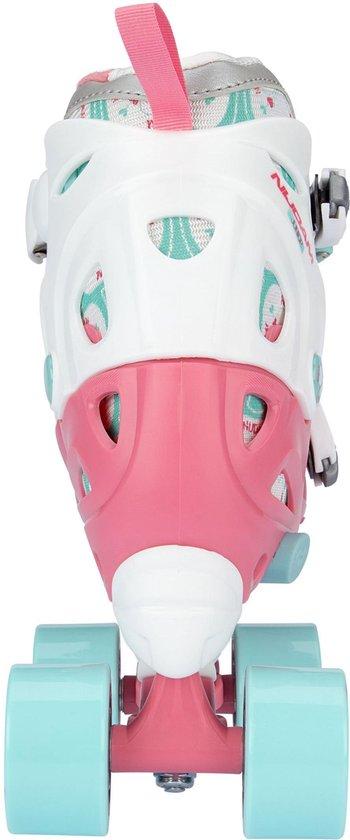 Nijdam Junior Rolschaatsen Verstelbaar Roze Maat 30-33