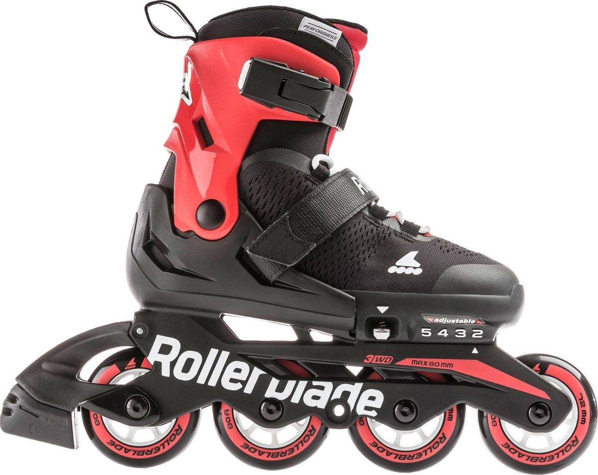 Rollerblade Microblade Inlineskates - Maat 33-36 - Unisex - zwart/ rood