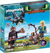 PLAYMOBIL Dragons Hikkie en Astrid - 70040