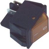 Fixapart 2-polige oranje aan/uit schakelaar 16A / 250V