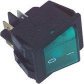 Fixapart 2-polige groene aan/uit schakelaar 16A / 250V