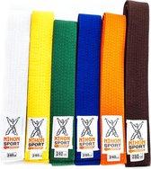 Budo- en judobanden Nihon | stevige kwaliteit | div. kleuren - Product Kleur: Blauw / Product Maat: 280