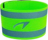 Avento Sportarmband - Reflecterend - Fluorgeel