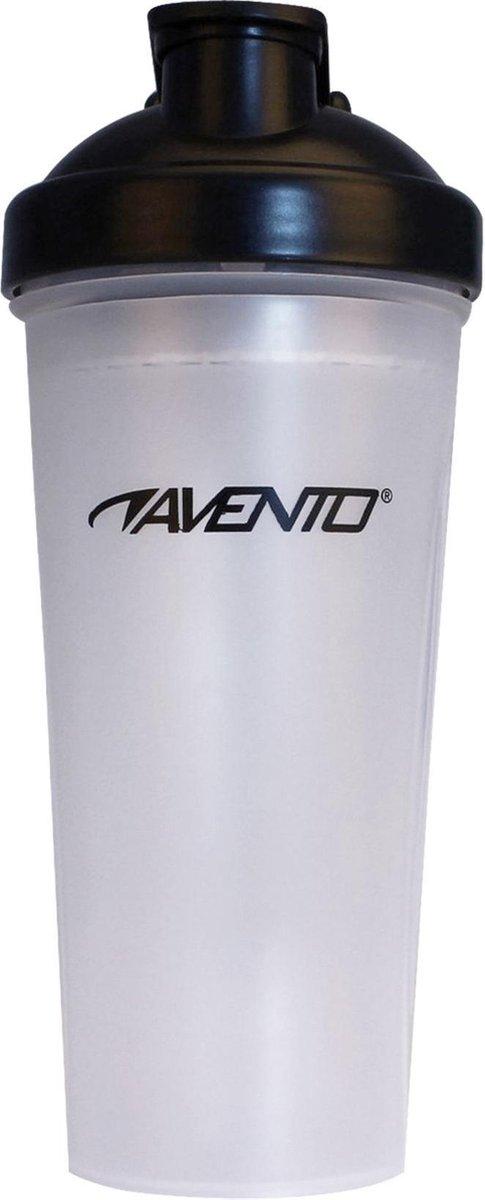 Avento Shakebeker - Transparant/Zwart - 0,60 Liter