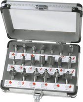 FERM Bovenfrezenset – 20 stuks – Incl. aluminium koffer