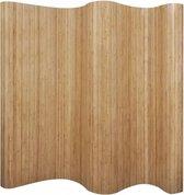 Kamerscherm 250x165 cm bamboe natuurlijk