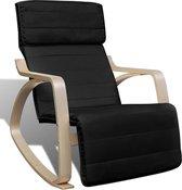 Verstelbare schommelstoel met leuning (zwart)