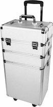 Mbs® Nagelstyliste trolley beautycase Zilver - nagelstyliste koffer
