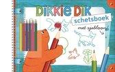 Dikkie Dik Schetsbk Met Sjabloon