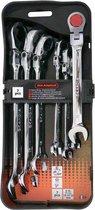 Skandia steekringratelsleutelset flexibel 8 - 19 mm 7-delig