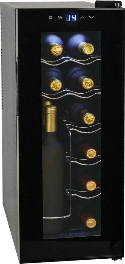 Koelkast: vidaXL - Wijnkoeler - 12 flessen - Zwart, van het merk vidaXL
