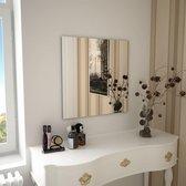 vidaXL Wandspiegel vierkant 60x60 cm glas