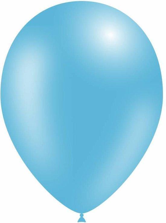 Lichtblauwe Ballonnen Metallic 30cm 10st