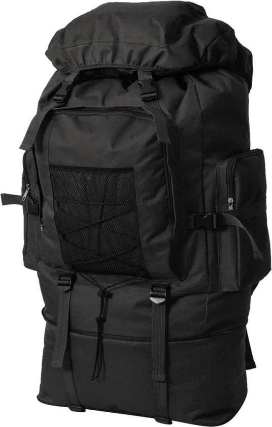 vidaXL Backpack - Rugzak legerstijl XXL Zwart