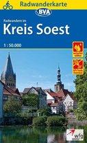 Radwanderkarte BVA Radwandern im Kreis Soest 1:50.000