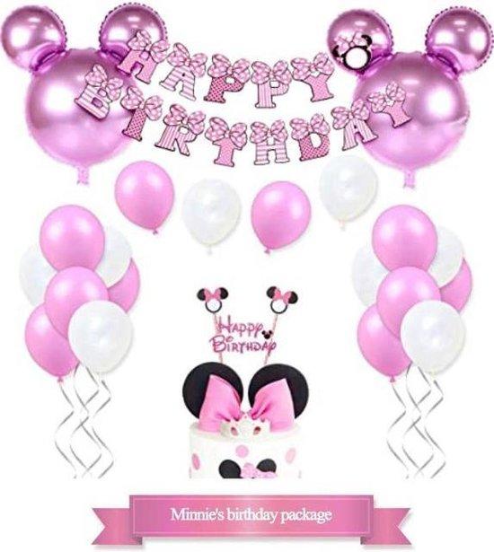 La Gabriela - Minnie Mouse - feestdecoratie - 24 stuks - folieballonnen - heliumballonnen - feestje - verjaardag - versiering - pakket - set