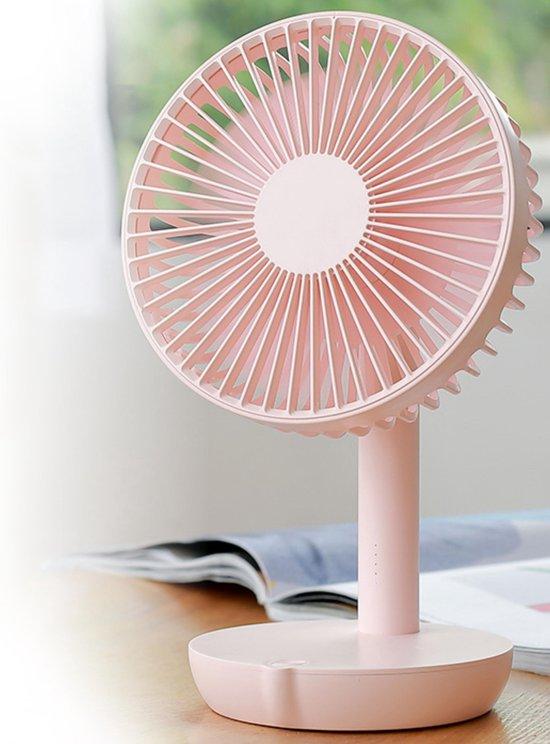 Mini Ventilator – Tafelventilator – Luchtkoeler – Draadloos - Portable Ventilator - Aircooler - Roze