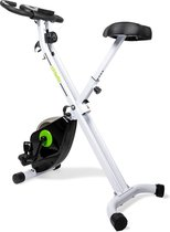 Hometrainer - VirtuFit Opvouwbare Home trainer met Tablethouder - Fitness fiets - Inklapbaar - Wit
