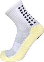 Gripsokken voetbal wit - sportsokken - grip - one size - anti blaren - compressie - prestatieverhogend - tennis - hardlopen - handbal - sporten - fitness - tennissokken