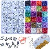 Kralen Set Verkoop Sieraden Maken Kit Kralen voor Armbanden Bead Craft Set Glas Pony Zaad Brief Kralen Brief Alfabet