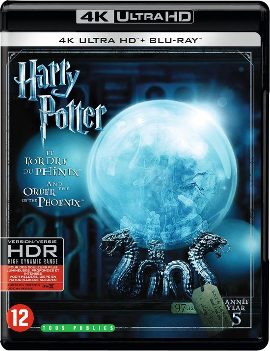 Harry Potter And The Order Of The Phoenix: Part 5 (4K Ultra HD Blu-ray)