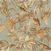 Wallstitch bird of paradise teal  DE120017