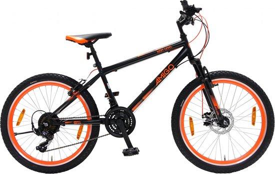 Amigo Next Level - Mountainbike 26 inch - Voor dames en heren - Zwart/Oranje