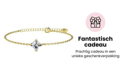 Yolora Lovables dames armband met Swarovski kristal - 18K geel goud vergulde armband - YOL-B004-YG-CC