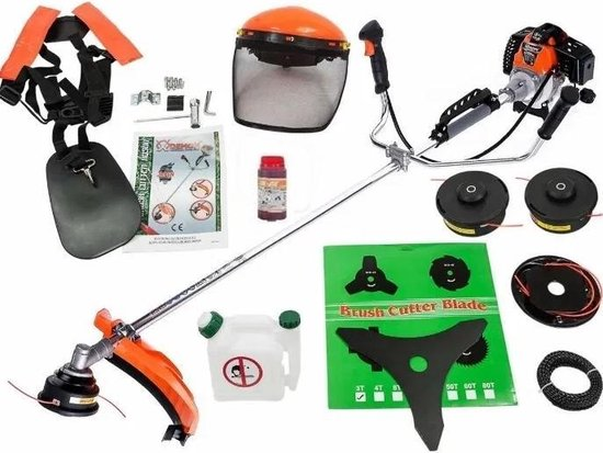 Japan Grasmaaier - Benzine Grastrimmer - Met Beschermhelm - Inclusief Accessoires