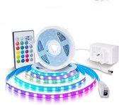 LifeGoods LED Strip met Afstandsbediening - 5 Meter - 16 Kleuren - 4 Standen - Snoer