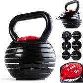 ZEUZ® Verstelbare Kettlebell tot 18 KG – Fitness Sport Set – Conditie & Krachttraining – Halters - Gietijzer