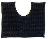 Lucy's Living Luxe WC mat POL Black exclusive – 50 x 40 cm – printje - badkamer mat - badmatten - badtextiel - wonen – accessoires - exclusief - bidetmat