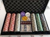 Deluxe Pokerset - Poker koffer - Pokerkoffer - Poker - Fiches - Kaarten - Aluminium koffer met veiligheidsslot | JS HomeTools