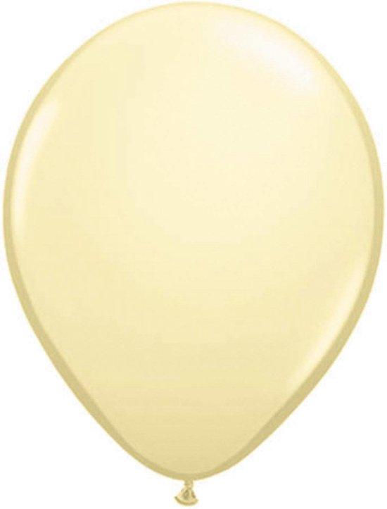 Folat Ballonnen metallic ivoor - 10 stuks