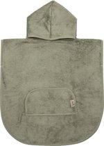 Timboo poncho Whisper Green  - Bamboe - Extra zacht - Handdoek - 1/4 jaar
