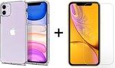 iPhone 12 Mini hoesje apple siliconen transparant case hoesjes cover hoes - 1x iPhone 12 Mini Screenprotector