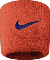 Nike Swoosh  Zweetband Pols Volwassenen - Oranje/Blauw