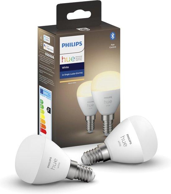 Philips Hue Kogellamp Lichtbron E14 Duopack - White - 5,7W - Bluetooth - 2 Stuks