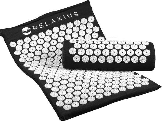 Relaxius Spijkermat – Acupressuur Mat - Massagekussen - Shiatsu – Spijkermat Met Kusssen Set