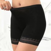 LOUZIR Dames Short Seamless - lange pijp -Basic  korte broek -Zwart Maat M