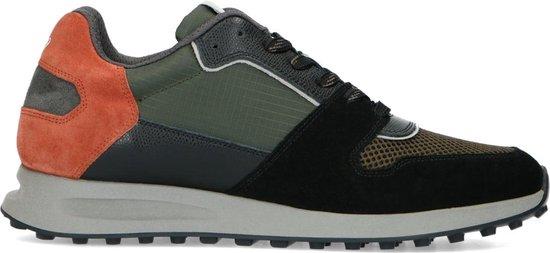 Sacha - Heren - Zwarte leren sneakers - Maat 42