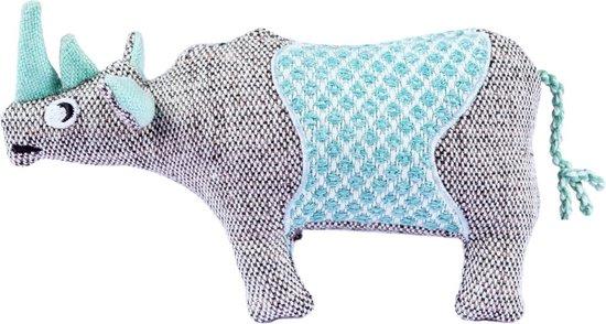 Resploot Neushoorn - Duurzaam Hondenspeelgoed - 22 X 6 X 12 cm Assorti