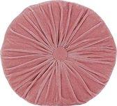 HOOMstyle Kussen - fluweel - Kiki - roze - Ø40cm