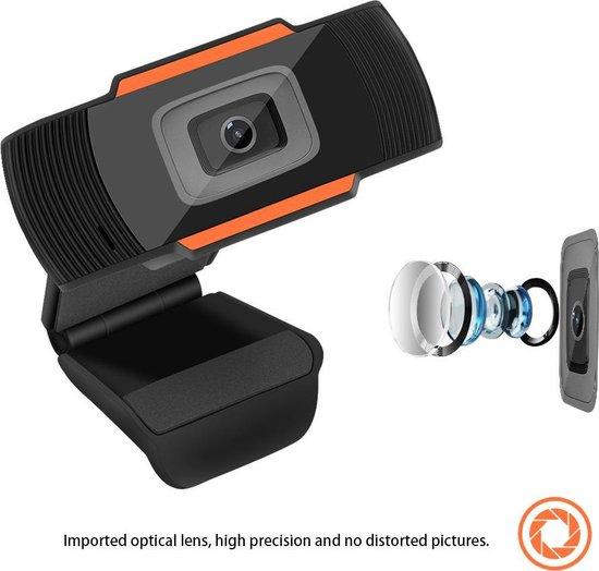 Webcam 1080p - USB Webcam met Microfoon - Webcam voor PC of Laptop - Draaibaar - Zwart - Geen software nodig